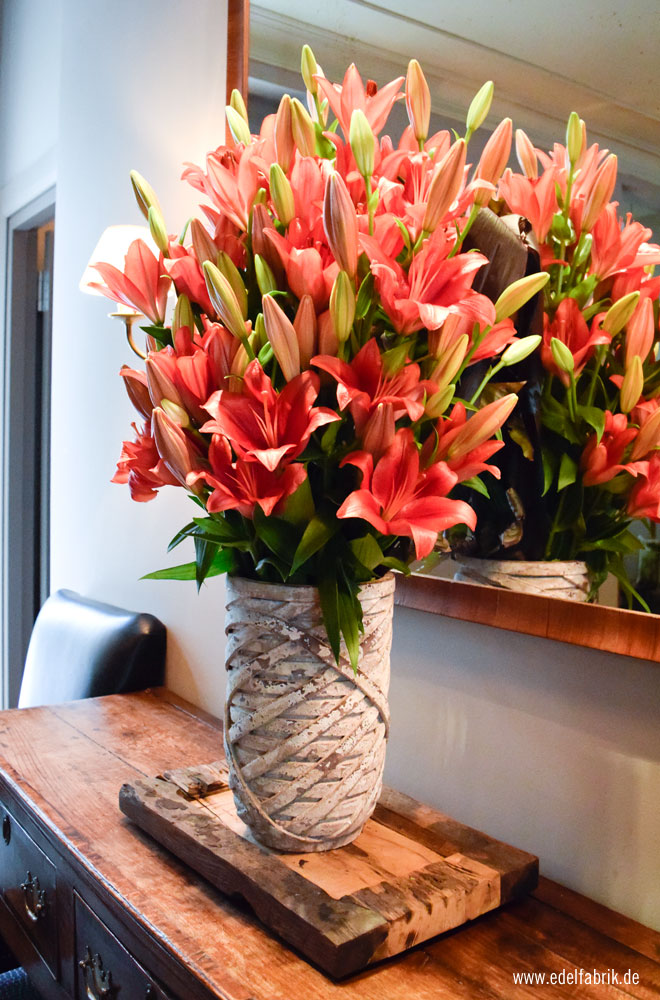 Echte Blumen im Monbijou Hotel Berlin