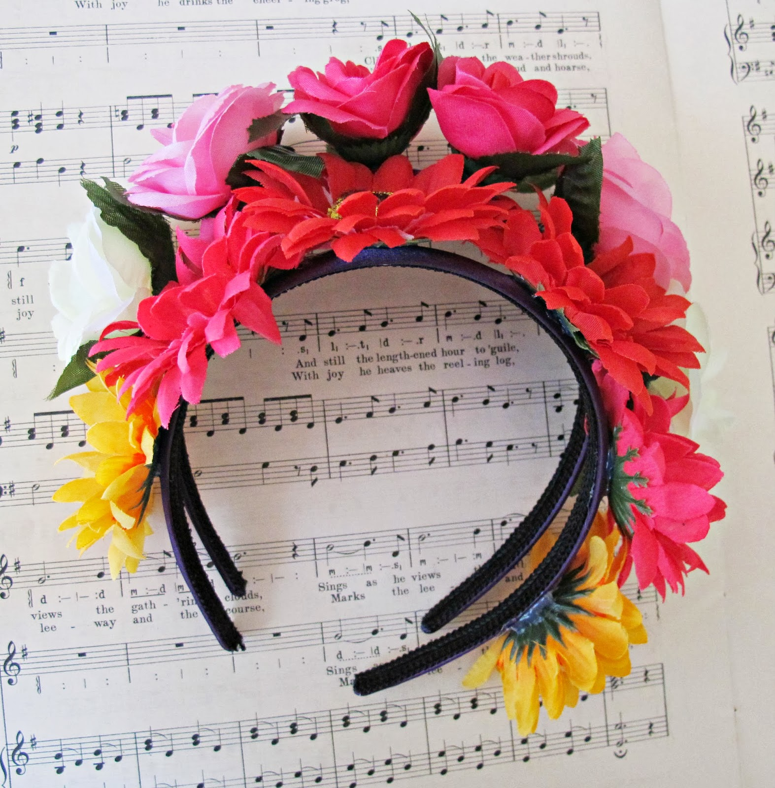 image tutorial diy floral headpiece boho headband flowers spring