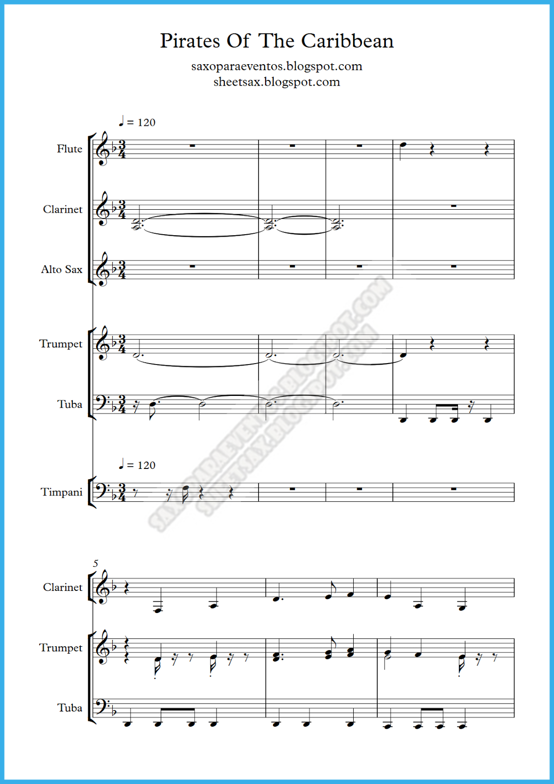 Pirates Of The Caribbean Theme Song Piano Sheet Music Free Download