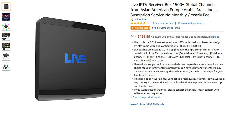 V5 LIVE SHOP - IPTV DROID