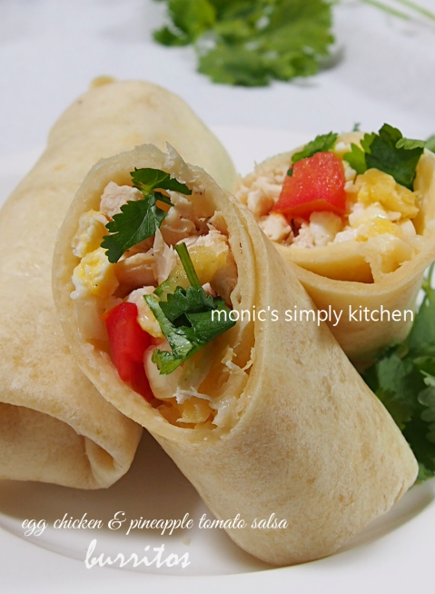 burritos dengan homemade tortillas