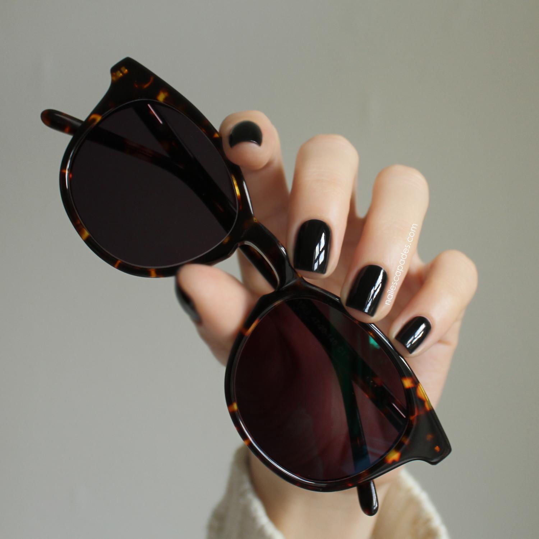 5b01ee29ce2 Nail Escapades  Firmoo Sunglasses    First Selfie    Essie Licorice