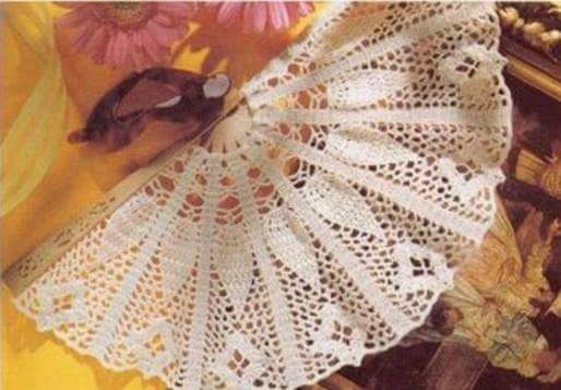 Patrón #1494: Abanico a Crochet