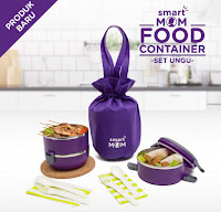 Dusdusan Smart Mom Food Container Set Ungu ANDHIMIND