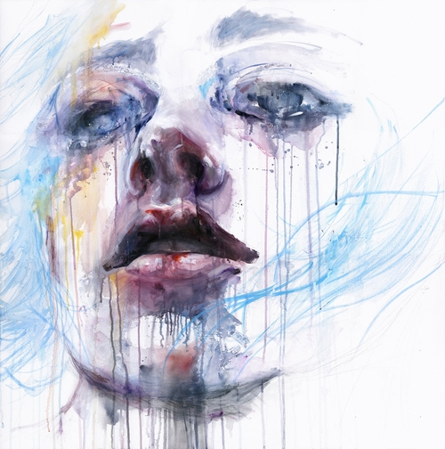 04-Breathing-Silvia-Pelissero-agnes-cecile-Watercolor-and-Oil-Paintings-Fading-and-Appearing-www-designstack-co