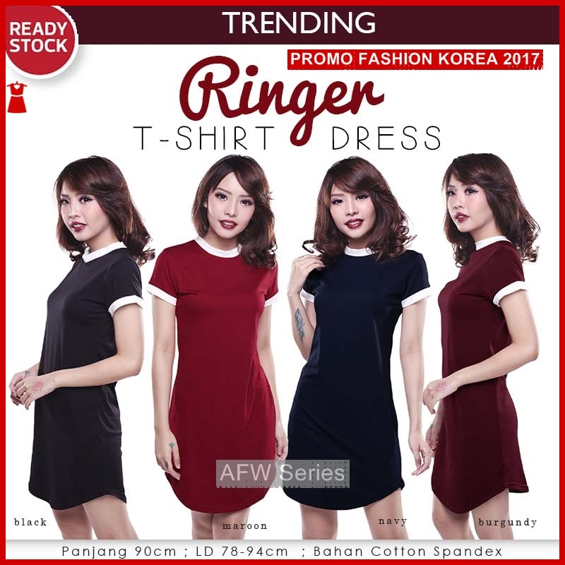 BAMFGW041 Ringer Shirt Dress Wanita PROMO BMG