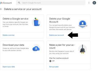 Delet google account permanently