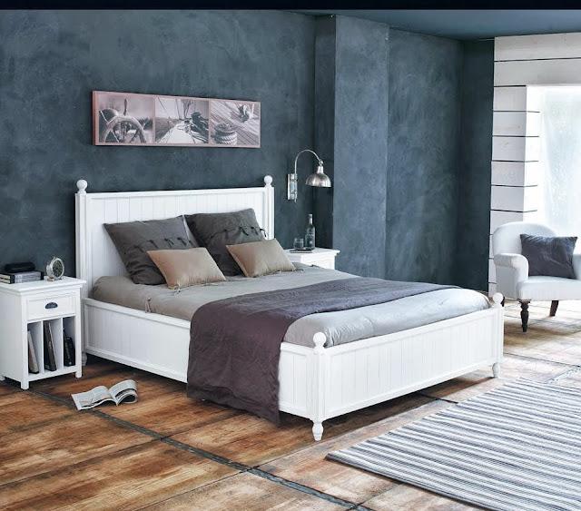 dormitorio en gris