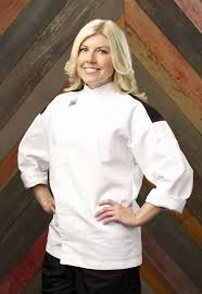 she was eliminated in hells kitchen episode 9 due to her decision to make adaptations to the dishes - Hells Kitchen Season 14