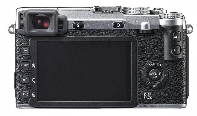 Il dorso della Fujifilm X-E2