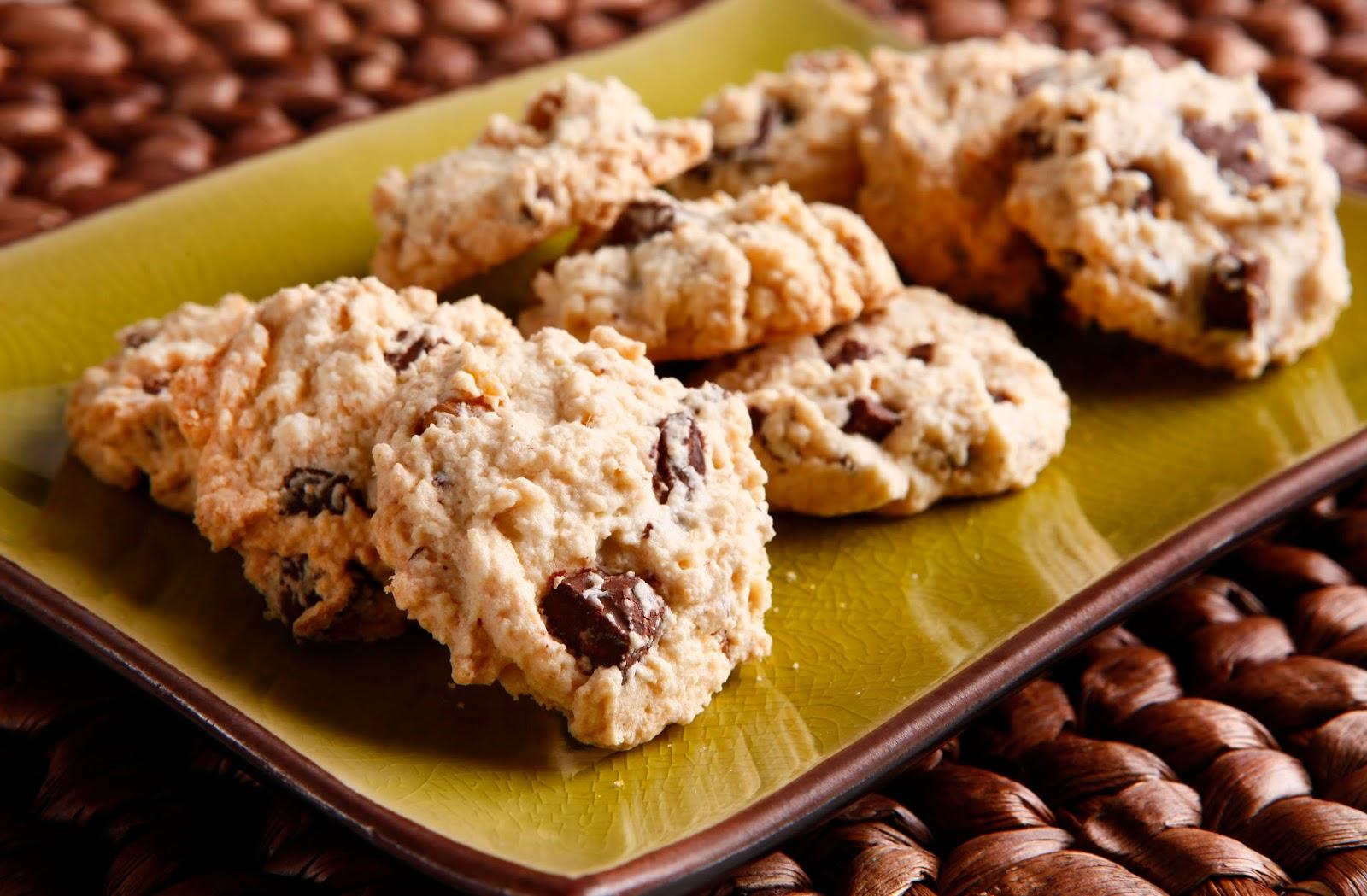 fácil de Fazer Cookie de nozes com chocolate sem glúten Receitas