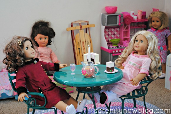 American Girl Play Area in a Shared Girls' Room, Serenity Now blog