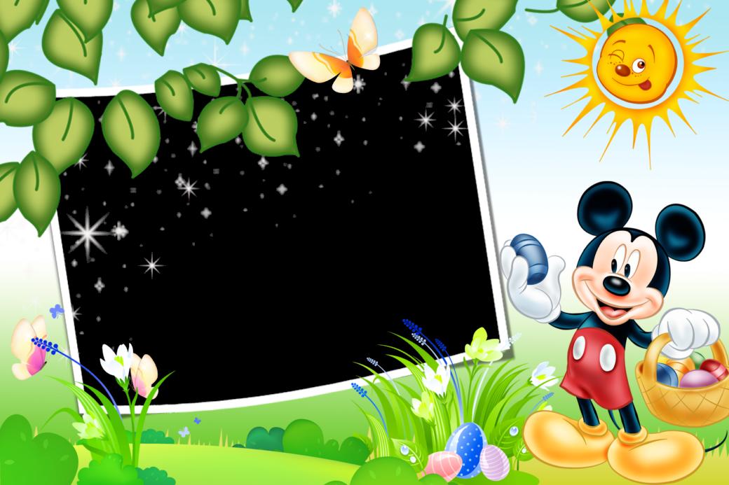 Marcos Png de Mickey Mouse para Niños. ~ Marcos Gratis para Fotografías.