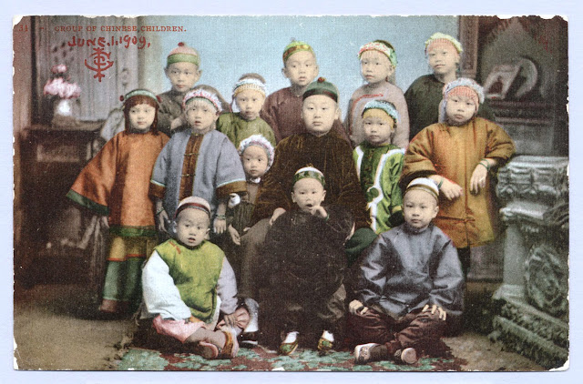 Group of Chinese Children, 1909 California Historical Society
