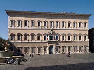 The Palazzo Farnese houses the French embassy in Rome