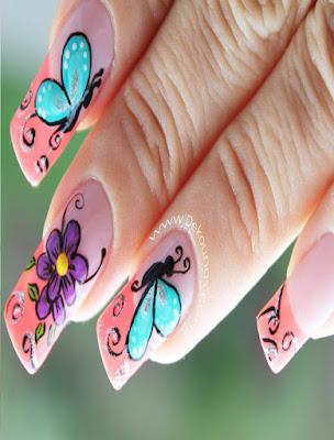 diseño de uñas facil y sencillo