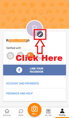 how to update registered mobile number in olx