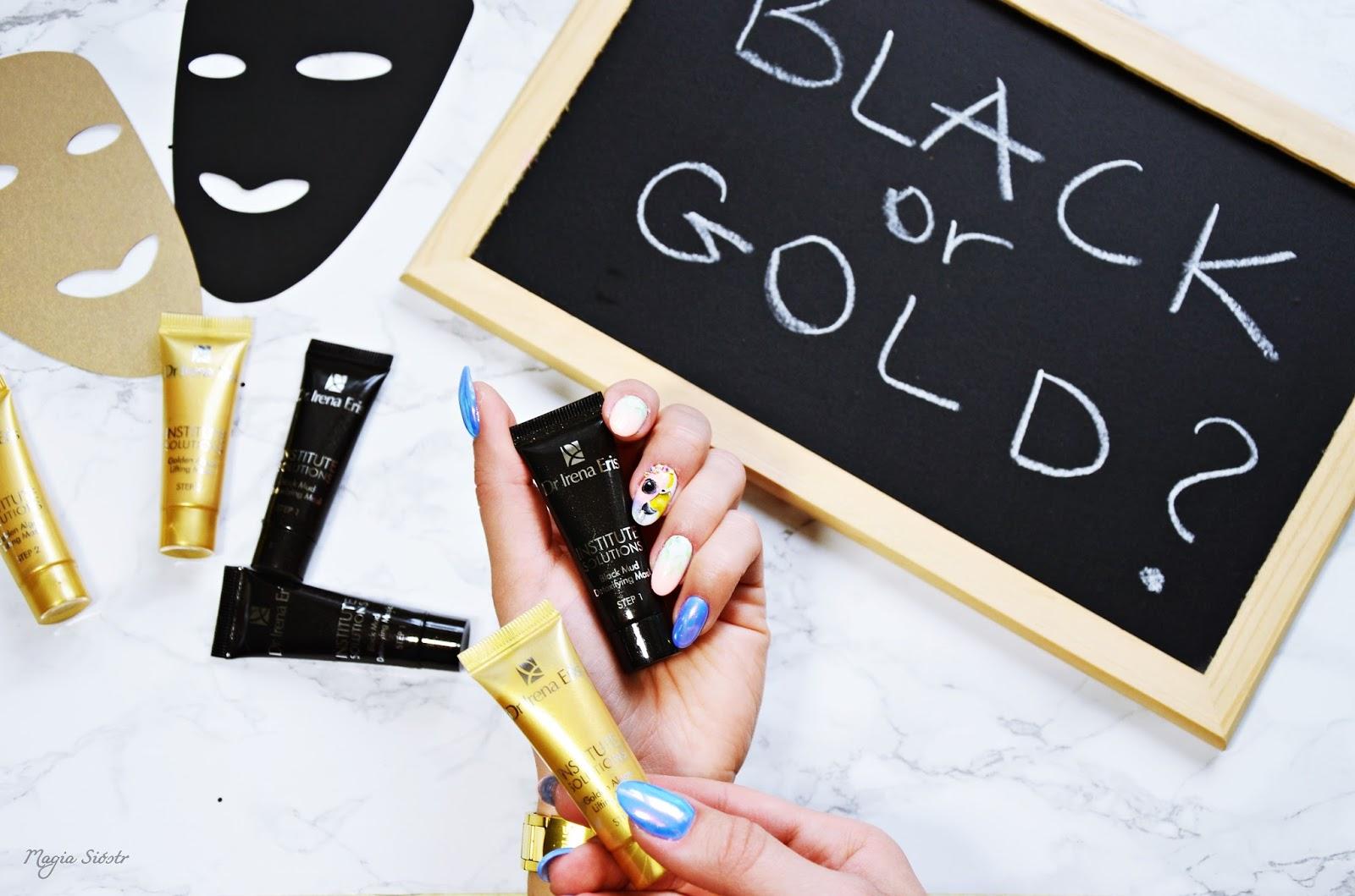 black, gold, dr irena eris