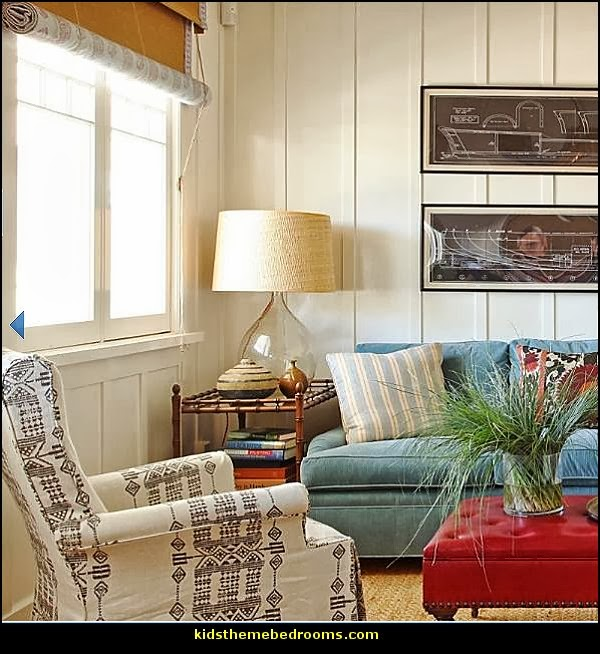 seaside cottage decorating ideas - coastal living living room ideas - beach cottage coastal living style decorating ideas - beach house decor - seashell decor - nautical bedroom furniture