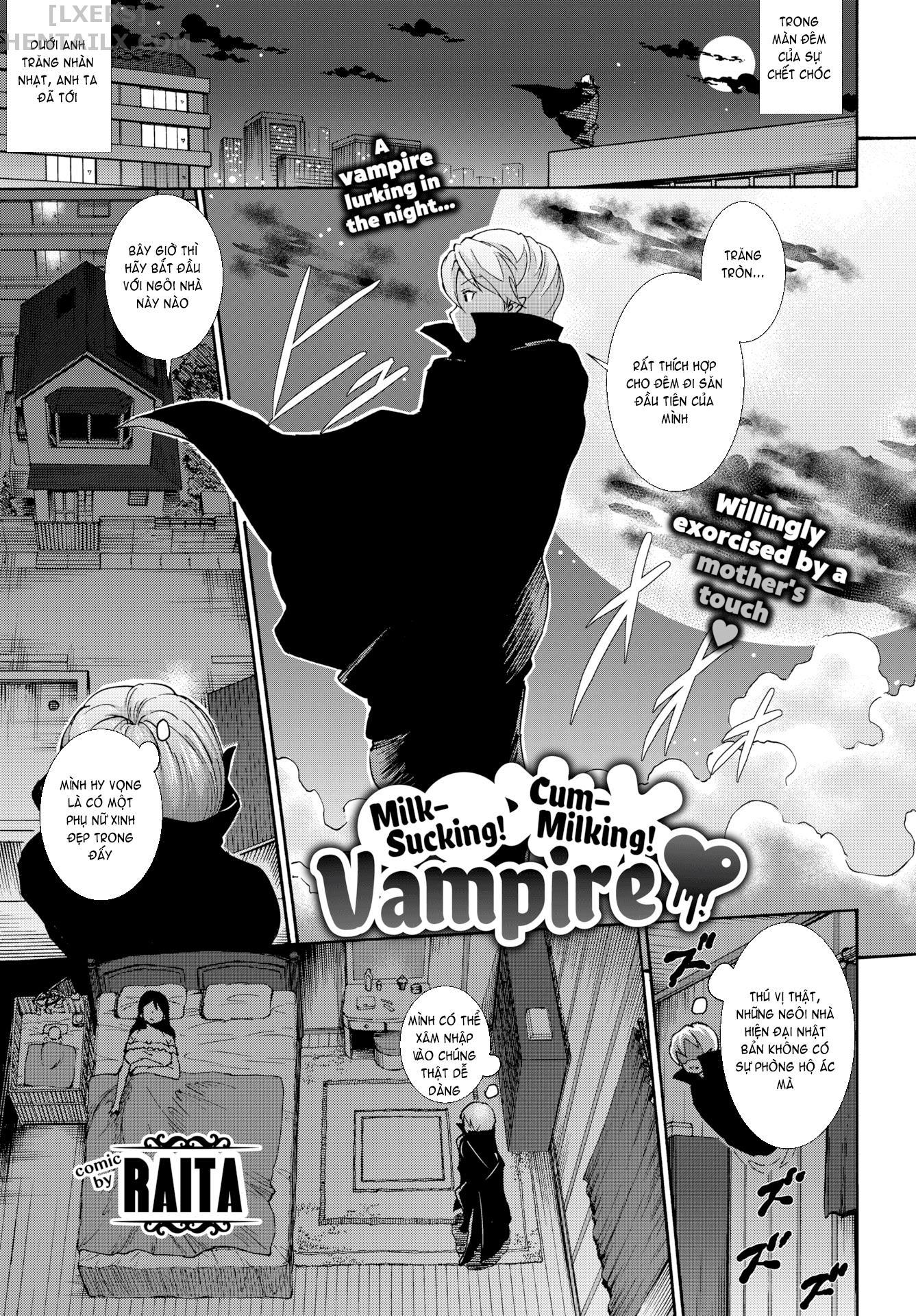 001 Milk-Sucking! Cum-Milking! Vampire  - hentaicube.net - Truyện tranh hentai online