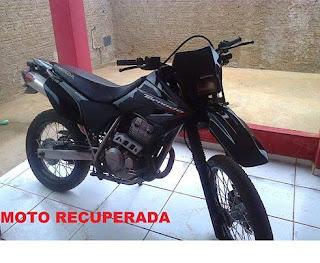 Uma semana após ser furtada em Nova Floresta, moto é encontrada abandonada no Rio Grande do Norte