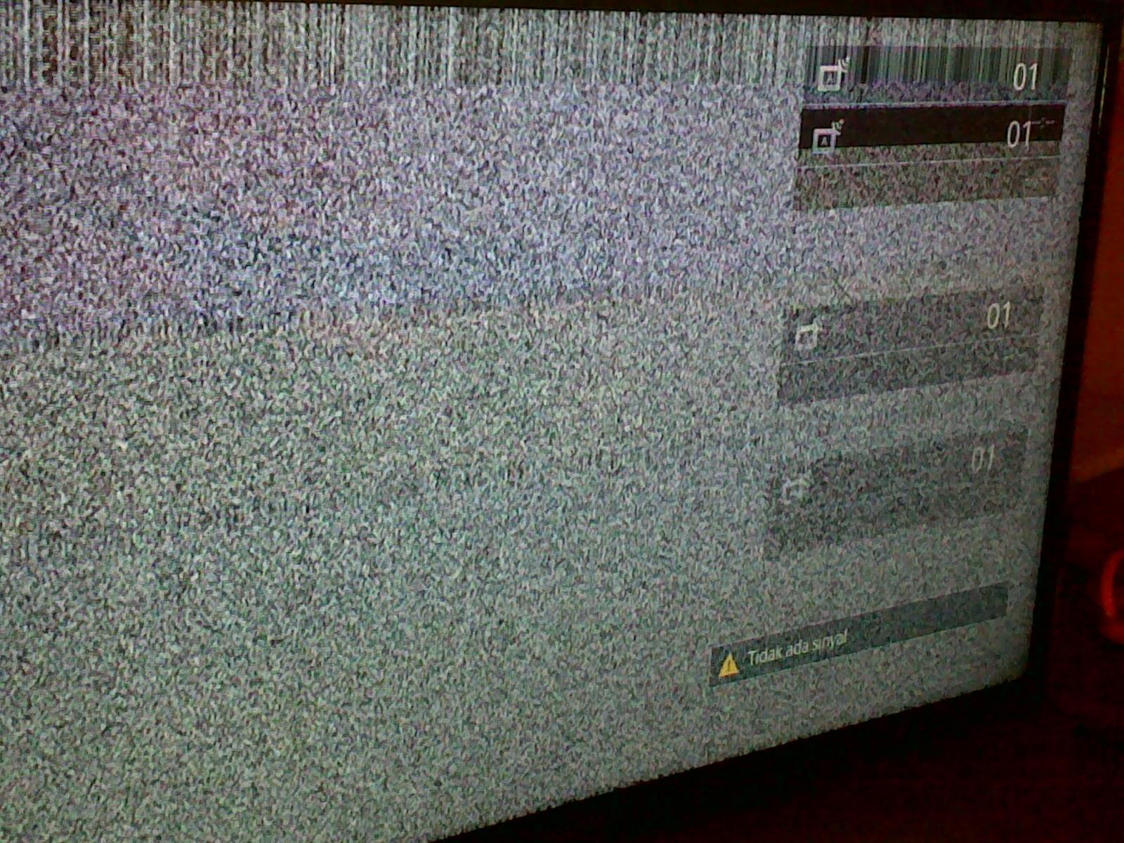 Cara Memperbaiki TV led rusak gambar menjadi double