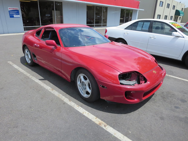 1995 Toyota Supra as it came to us for restoration at Almost Everything Auto Body