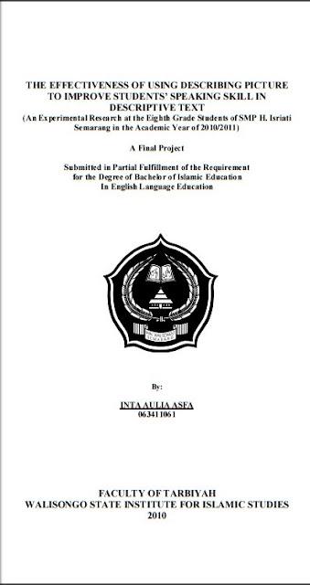 Contoh Skripsi Bahasa Inggris Tentang Speaking Skill Kumpulan Berbagai Skripsi