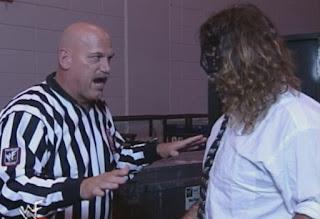WWE / WWF - Summerslam 1999 - Jesse Ventura lays down the law to Mankind