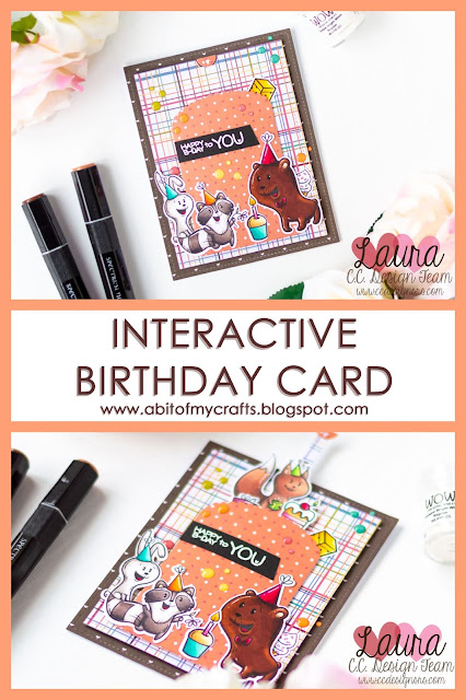 Interactive Pull Tab Card feat C.C. Designs Forest Creatures Birthday Pinterest