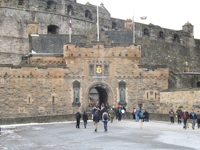 Outside Edinburgh Castle