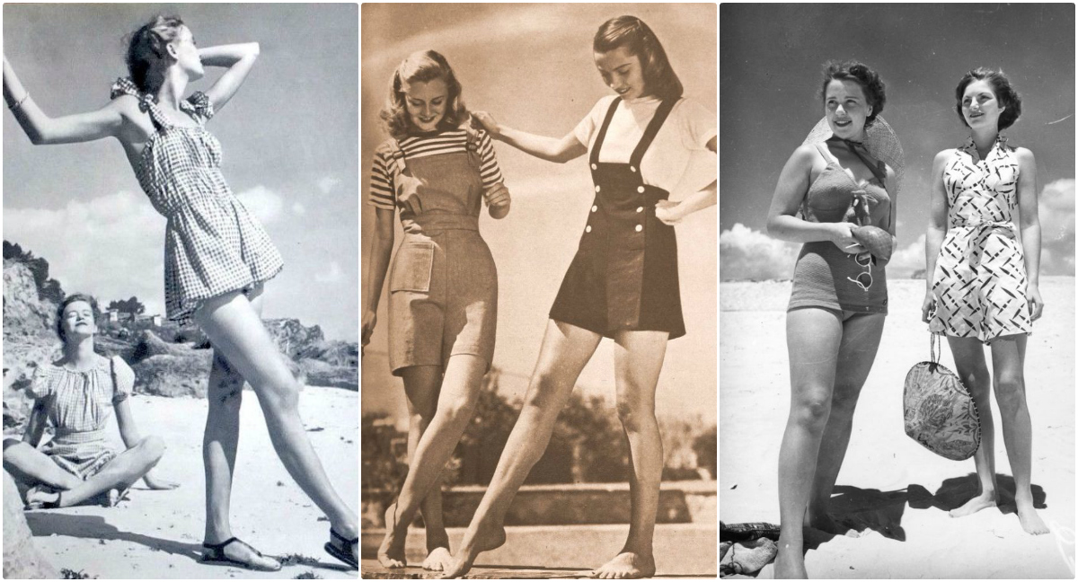 Playsuit  The Popular Fashion of Young Women From the 1940s     A playsuit was a one piece romper  The top resembled a button down blouse  that would come in at the waist and extend into shorts