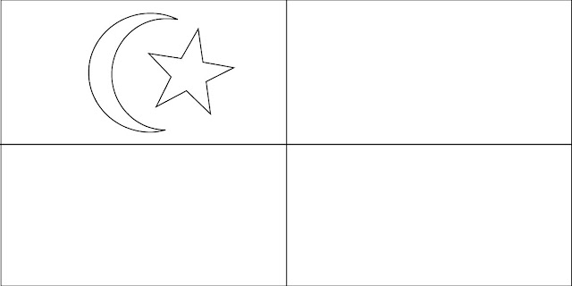 Gambar Mewarna Bendera Selangor