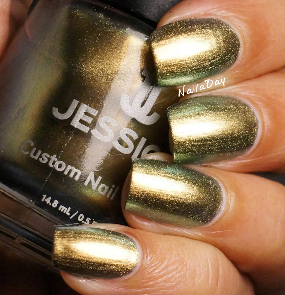 Nail A Day Jessica Iridescent Eye With Nicole By Opi Wink Of Tink