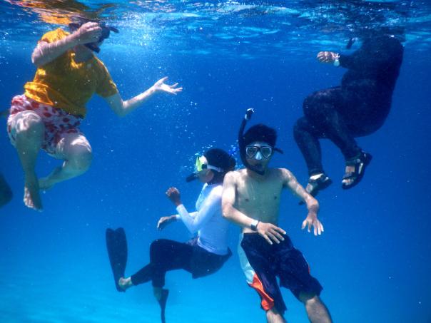 Belajar free diving dan Fun Diving di Gili Kapal Lombok