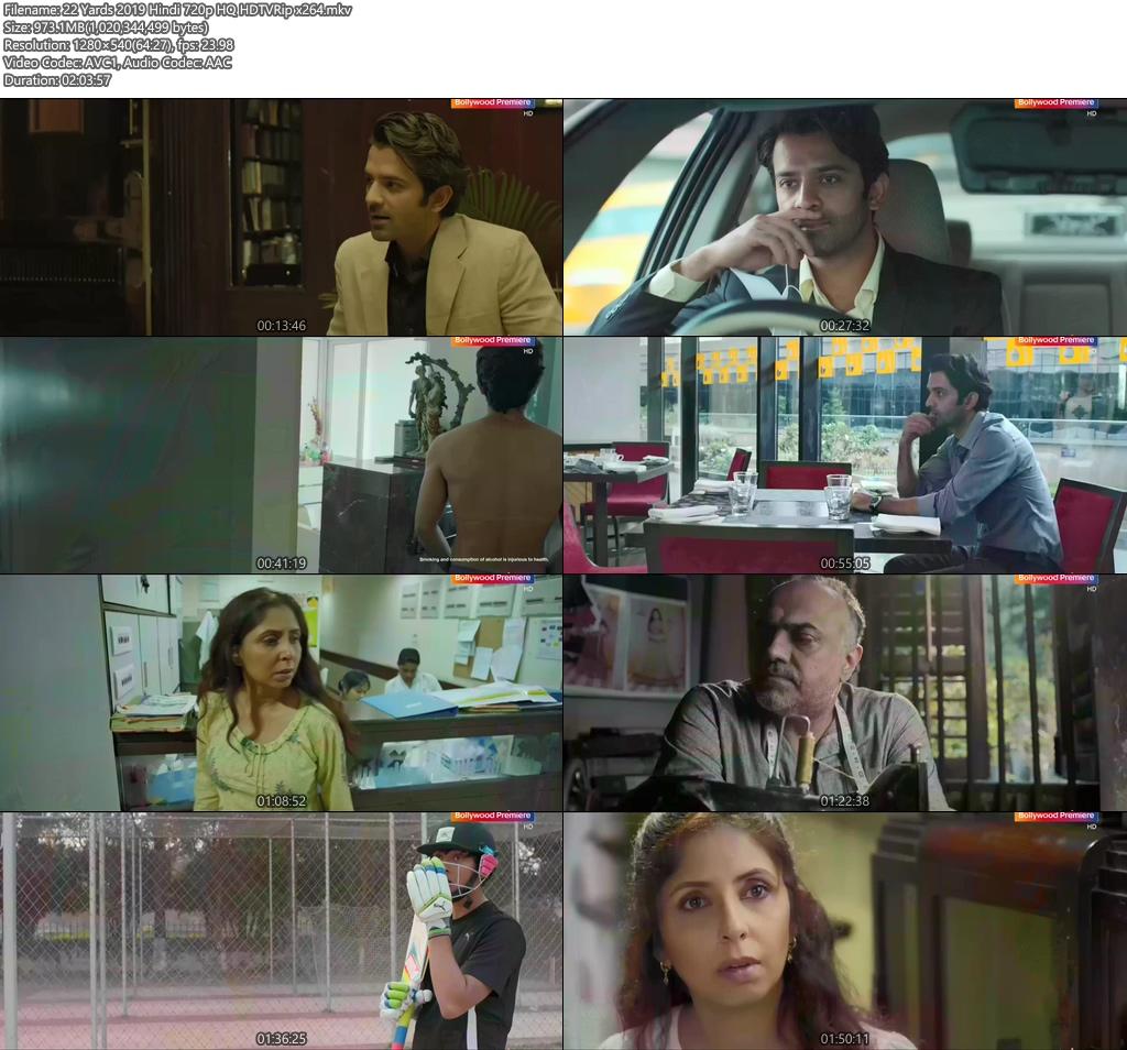22 Yards 2019 Hindi 720p HQ HDTVRip x264 | 480p 300MB | 100MB HEVC Screenshot