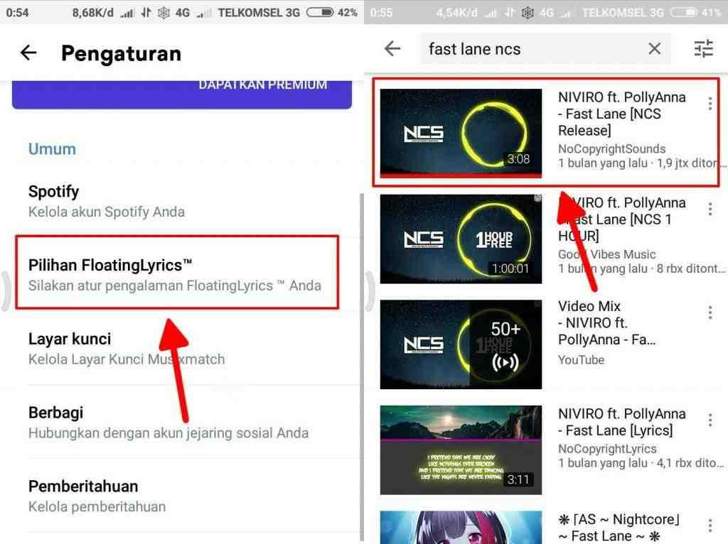 Cara jitu menampilkan lirik lagu YouTube untuk android 4