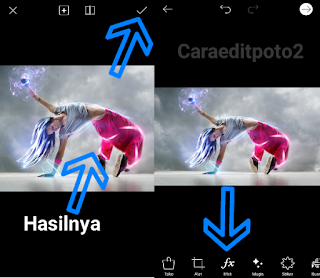 Cara edit foto picsart light effect android