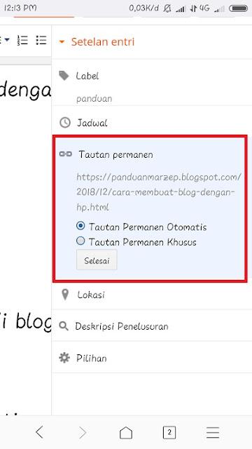 Cara Mengedit Permalink Artikel pada blogger