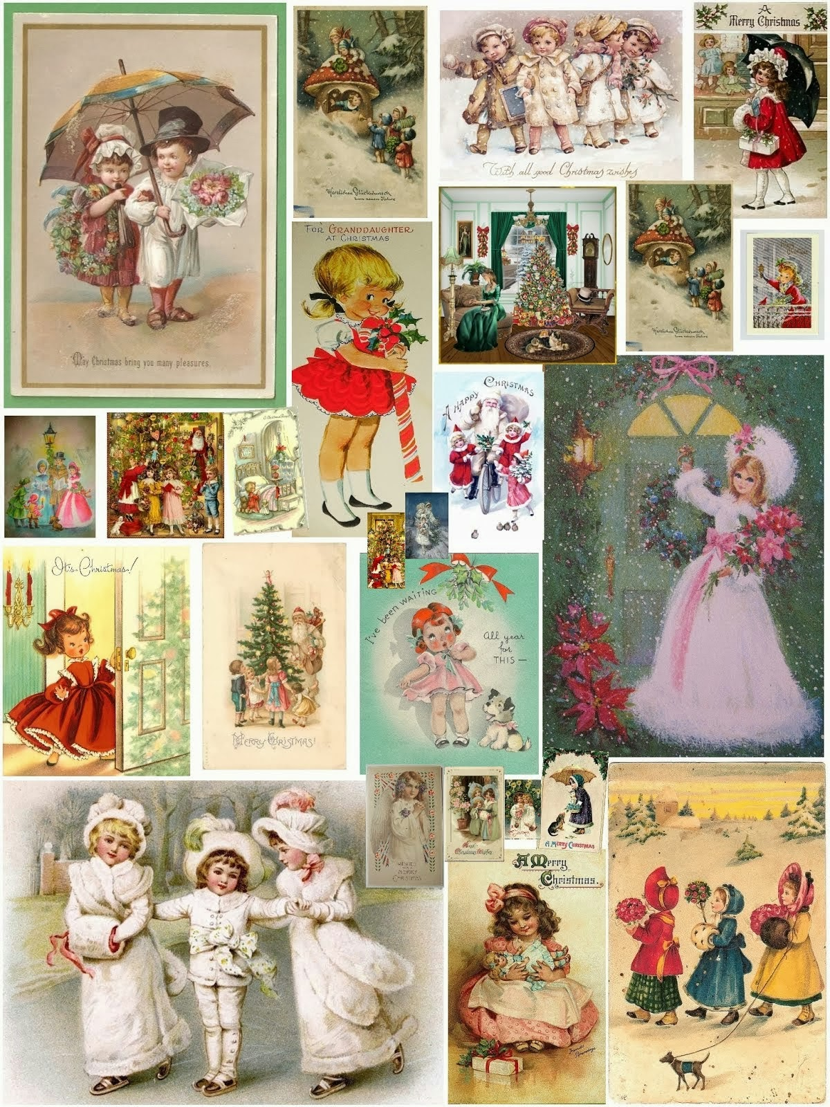 Christmas collage by Alice Solantania Saga