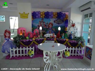 Decoração tema Princesa Sofia - festa infantil