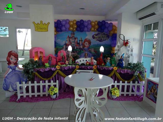 Decoração infantil Princesa Sofia - Tradicional Luxo