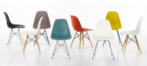 màu sắc ghế eames