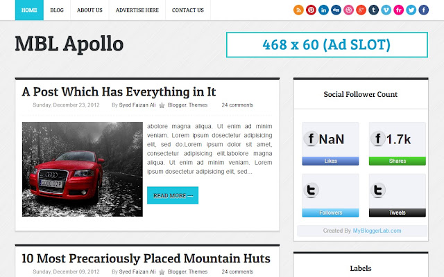 Apollo Magazine Style Blogger Template - Templateism