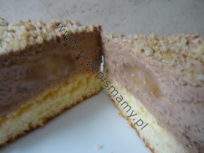 Ciasto z musem i gruszkami