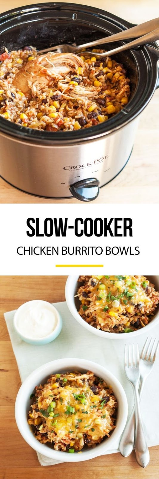 Slow-Cooker Chicken Burrito Bowls