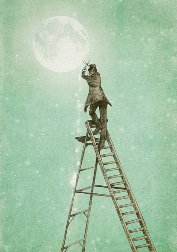 13-Waning-Moon-Eric-Fan-Illustration-of-Fantasy-Characters-in-Surreal-Worlds-www-designstack-co