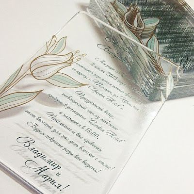K'Mich Weddings - wedding planning - wedding plexiglass invitation - Svetlana