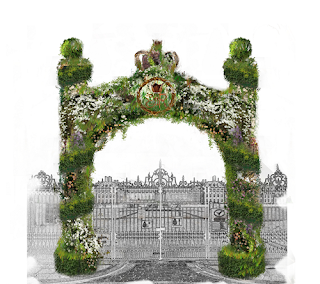 Floral Arch design for the Bull's Gate