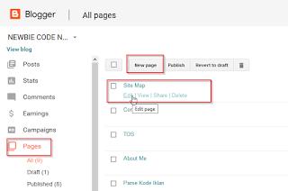 Cara Membuat Site Map Atau Daftar Isi Di Blog